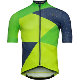 Triple2 Velozip Recycled Poly SS Jersey Men, online lime